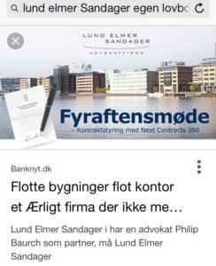 Nå vi ved Lund Elmer Sandager har advokat Henrik Høpner som partner, forstår vi det ikke Henrik Høpner Lund Elmer Sandager har strafferet i speciale