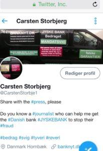 Besøg Carsten på Twitter her stiller vi spørgsmål om jyske bank værdier
