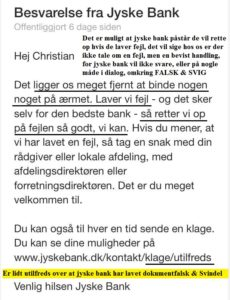 Nykredti dækker over svindel i jyske bank, Lund Elmer Sandager lyver for retten